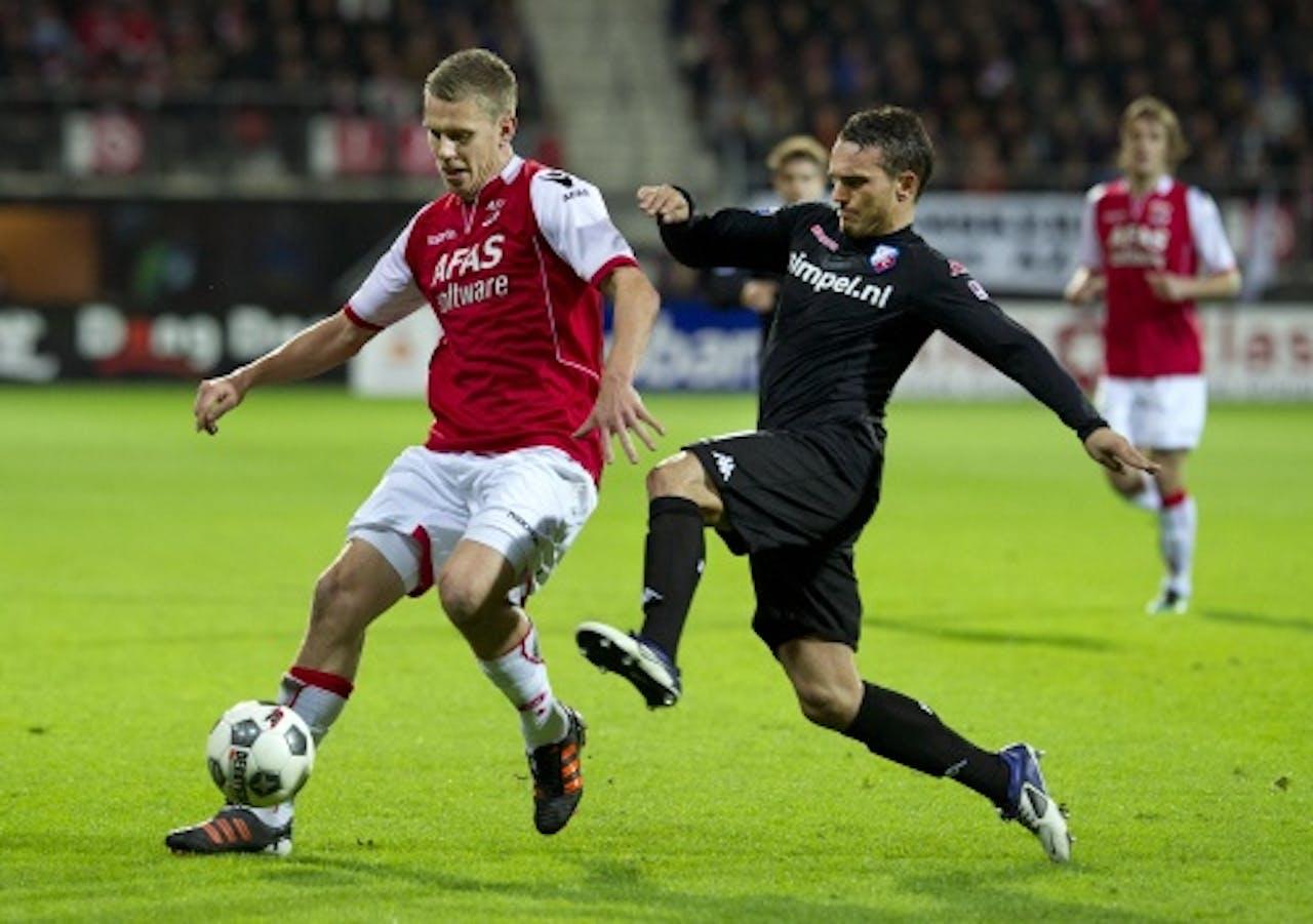 Rodney Sneijder (R) in het shirt van FC Utrecht. ANP Archiefbeeld