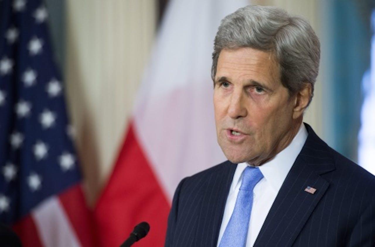De Amerikaanse minister van Buitenlandse Zaken John Kerry. EPA
