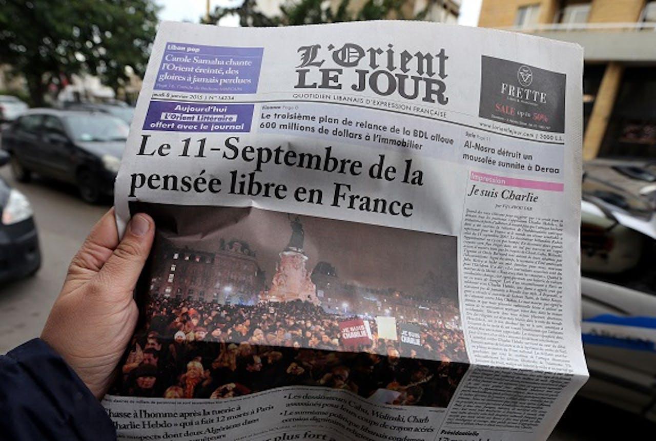 Foto: ANP. Franstalige Libanese krant