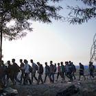 migranten vluchtelingen Griekenland Macedonie