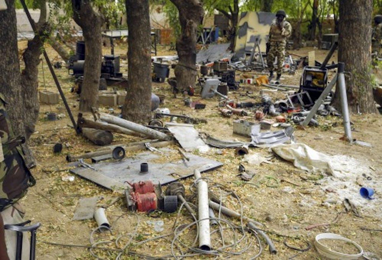 Archiefbeeld van een verlaten Boko Haram-kamp. EPA