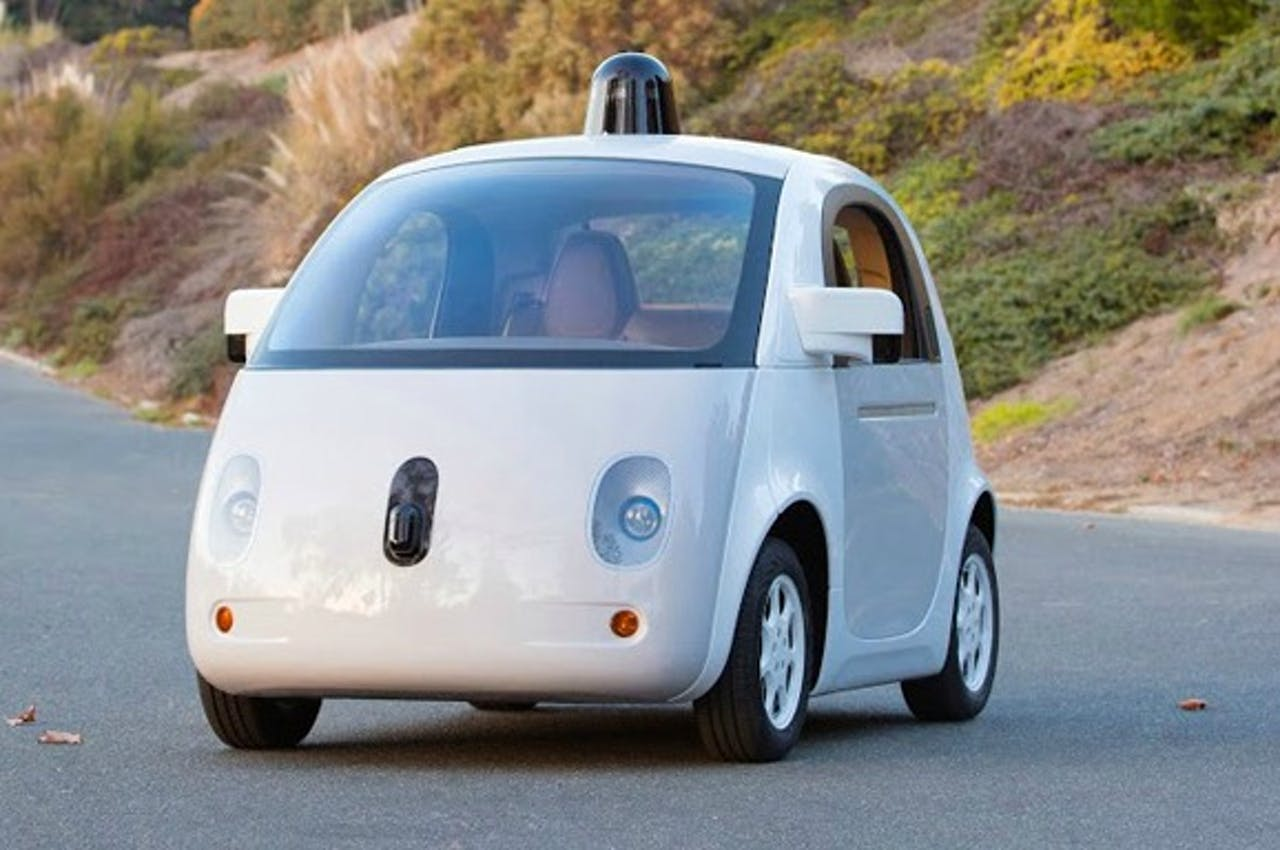 De zelfrijdende auto van Google.