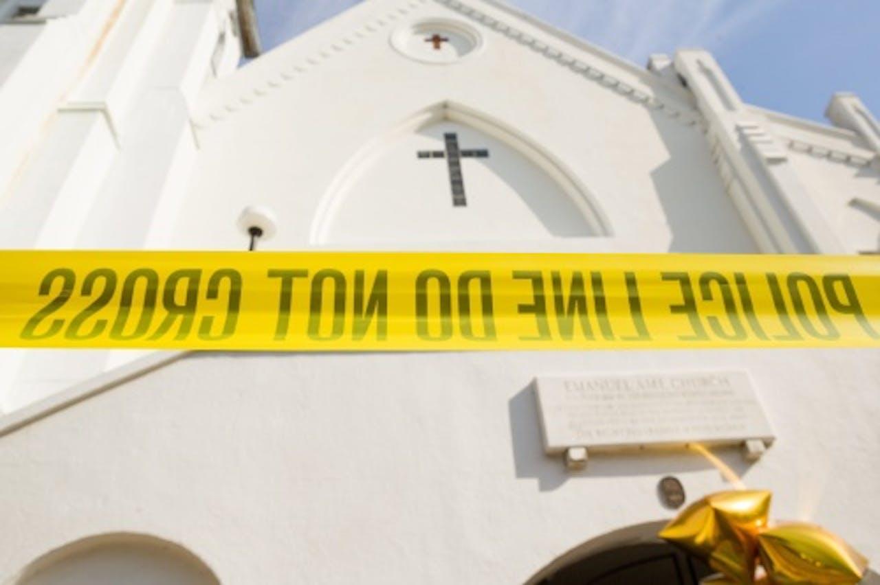 De kerk waar Dylann Roof burgers doodschoot. EPA