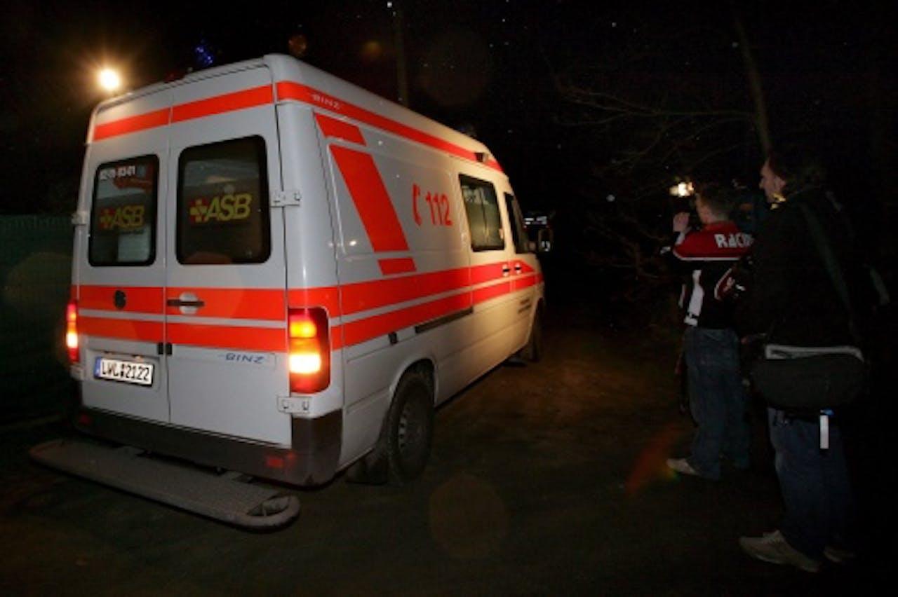Archiefbeeld van een Duitse ambulance. EPA