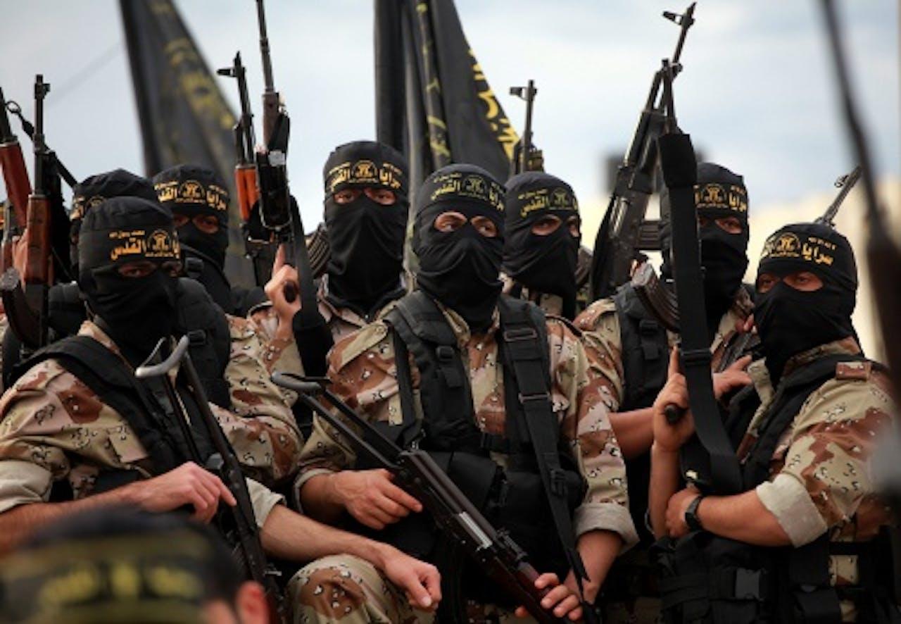 Leden van de groepering Islamitische Jihad. EPA