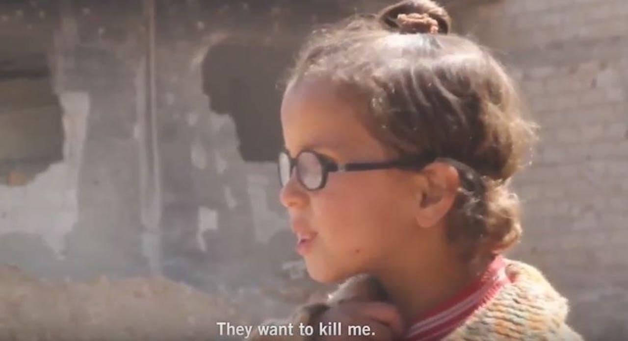 Fragment uit video Amnesty International