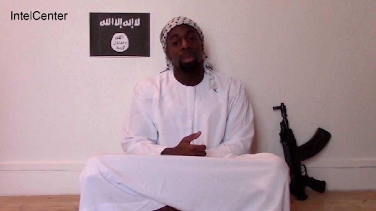 Amedy Coulibaly in een internetvideo. EPA