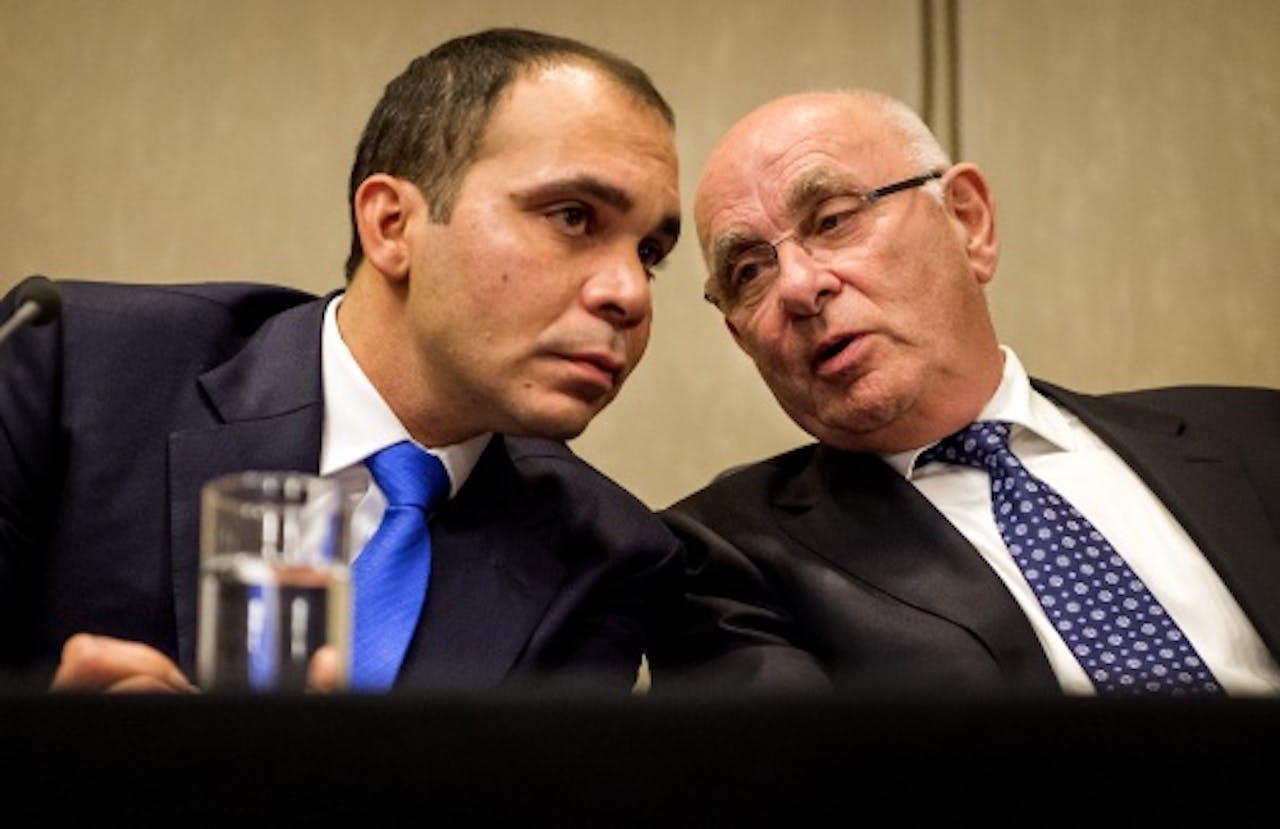 Al-Hussein (L) en Van Praag. Archieffoto ANP