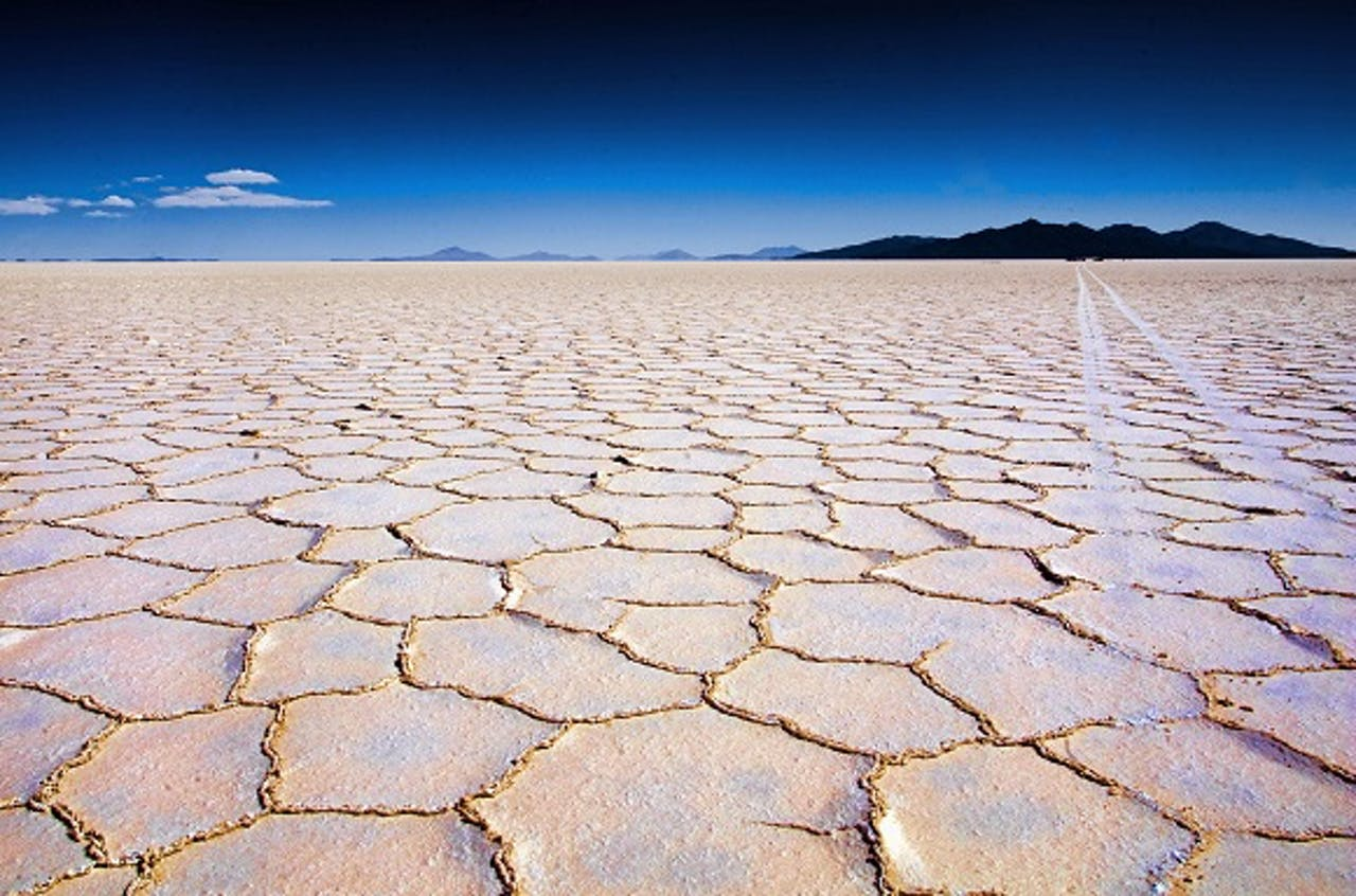 Zoutvlakte Uyuni in Bolivia, een van de grootste reservaten van lithium