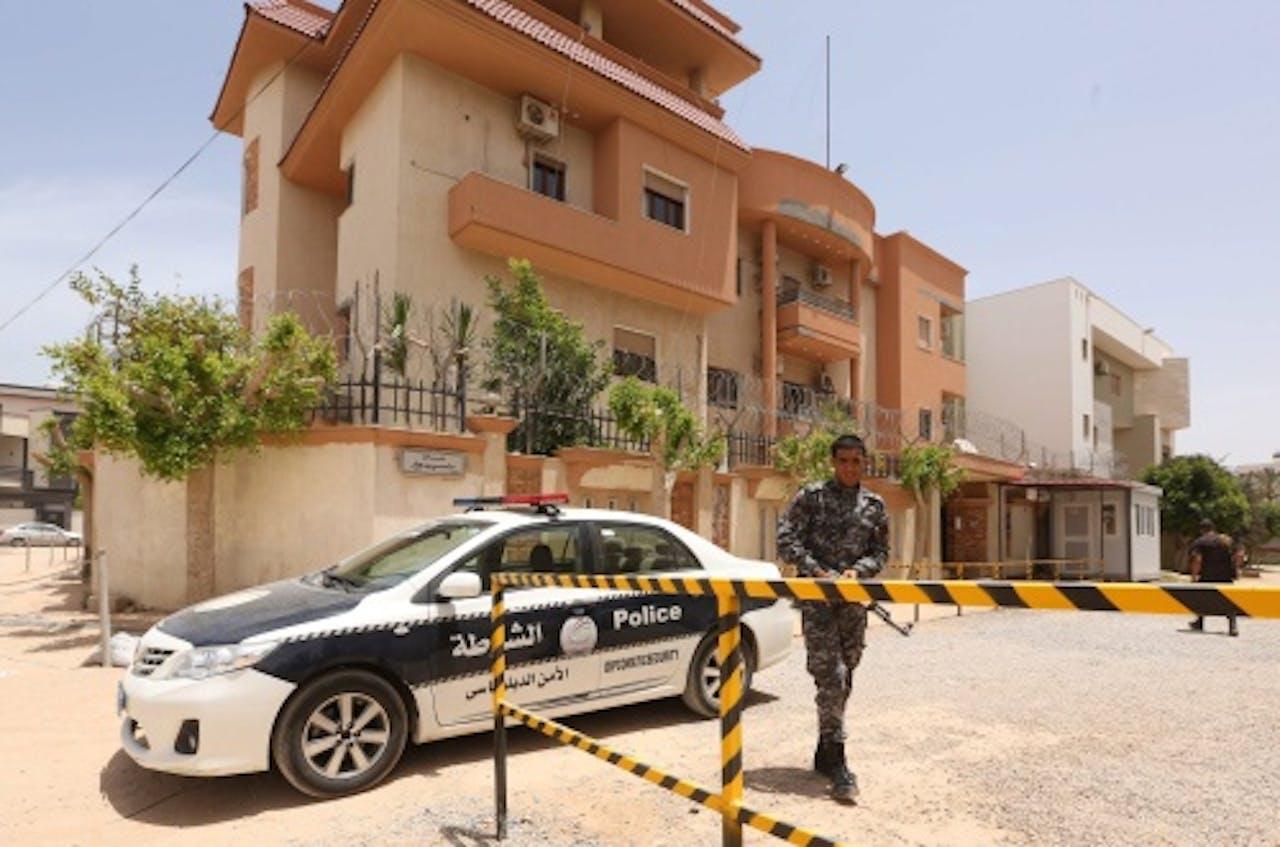 Het Tunesische consulaat in Libië. EPA