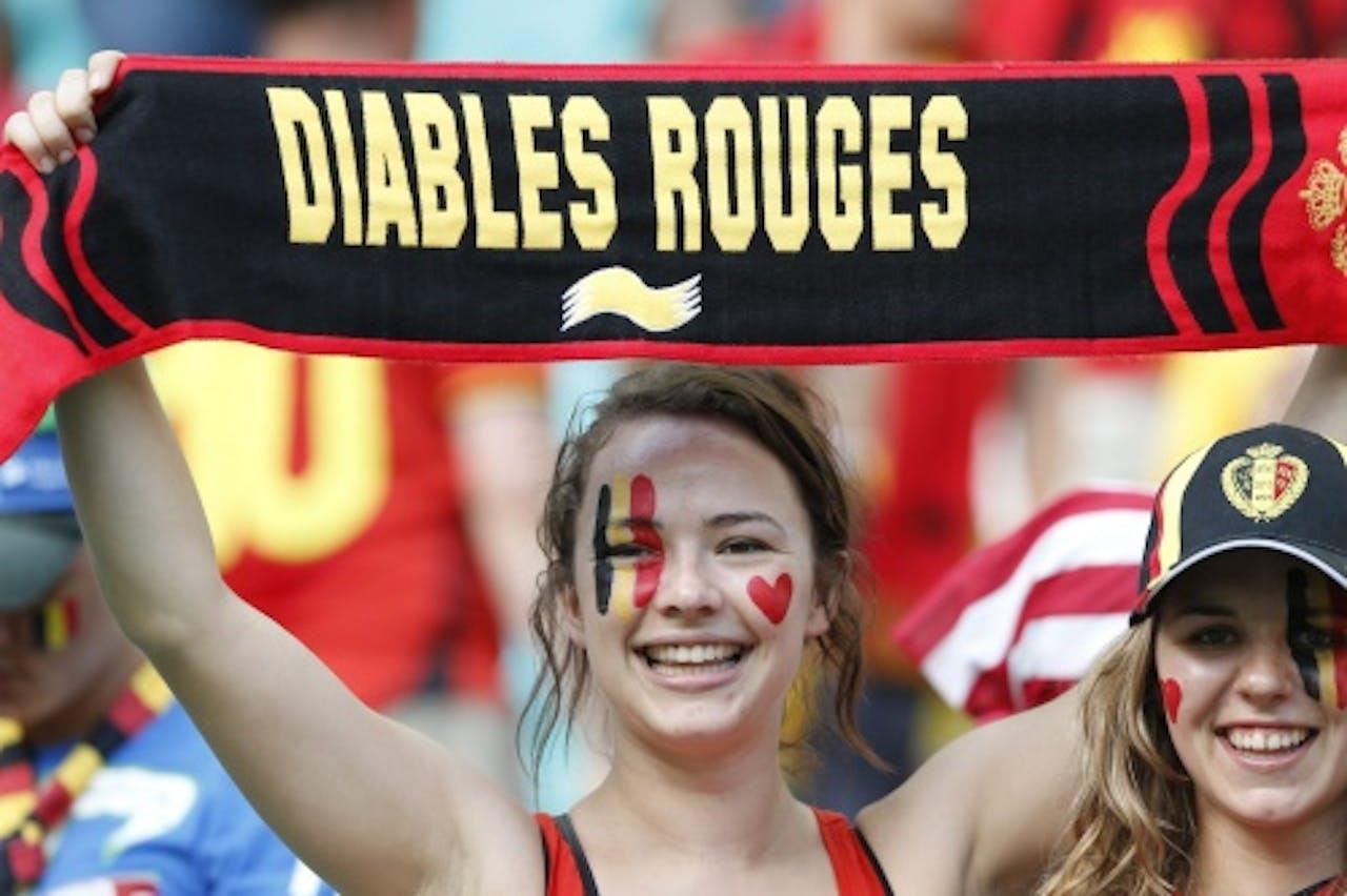 Fans van de Rode Duivels. Archieffoto EPA