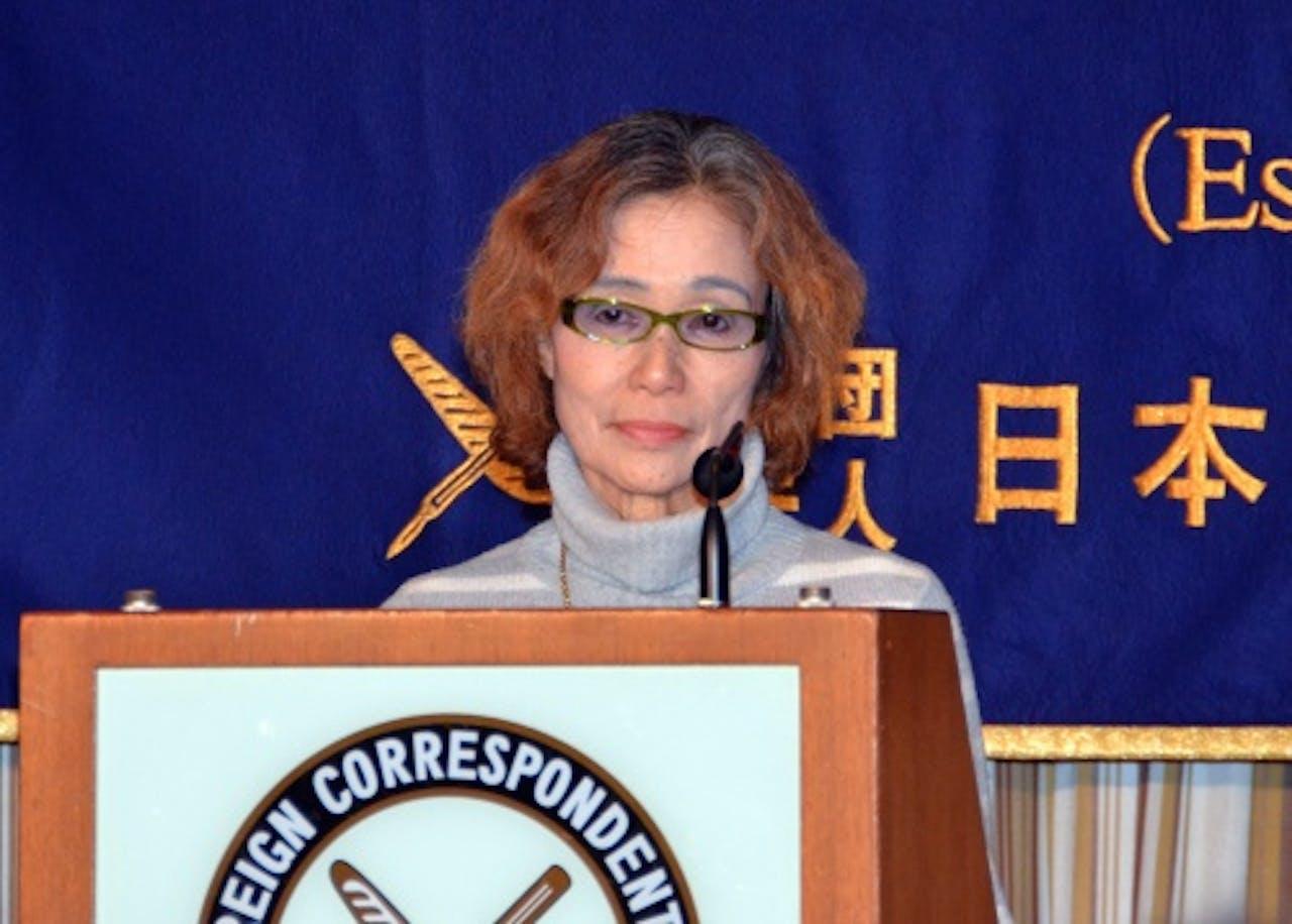 Junko Ishido, de moeder van Kenji Goto. EPA