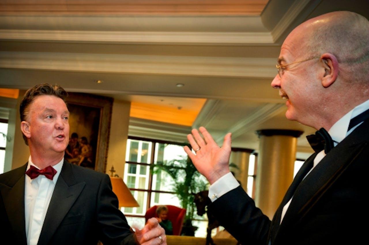 Van Gaal en Gerbrands in 2011, bij het Spieren voor Spieren Gala in Noordwijk. Foto: ANP