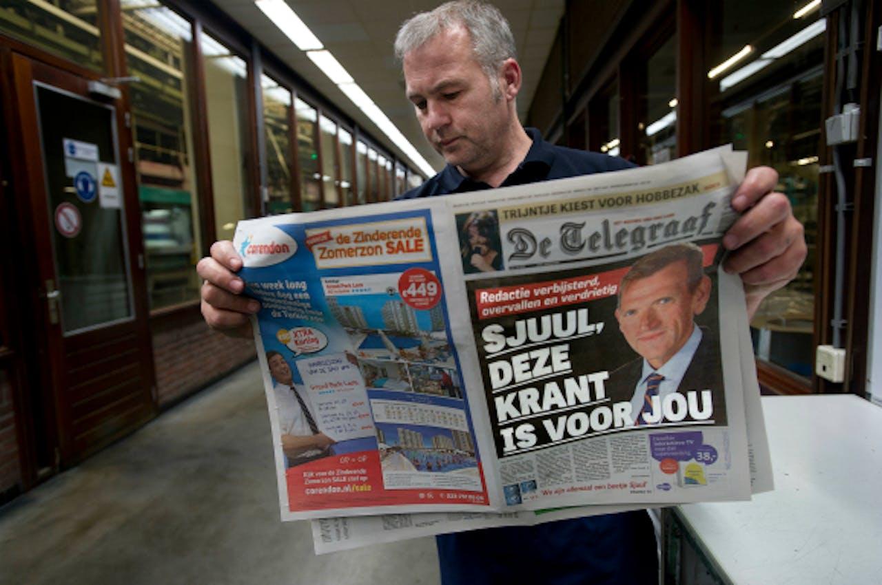 Foto: ANP - De Telegraaf is op een dag in mei geheel gewijd aan Sjuul Paradijs