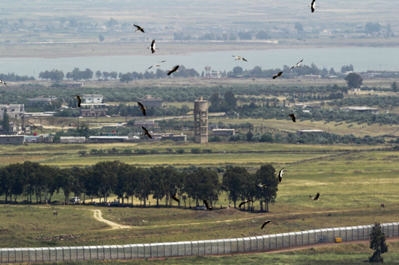 Grensgebied tussen Syrie en Israel