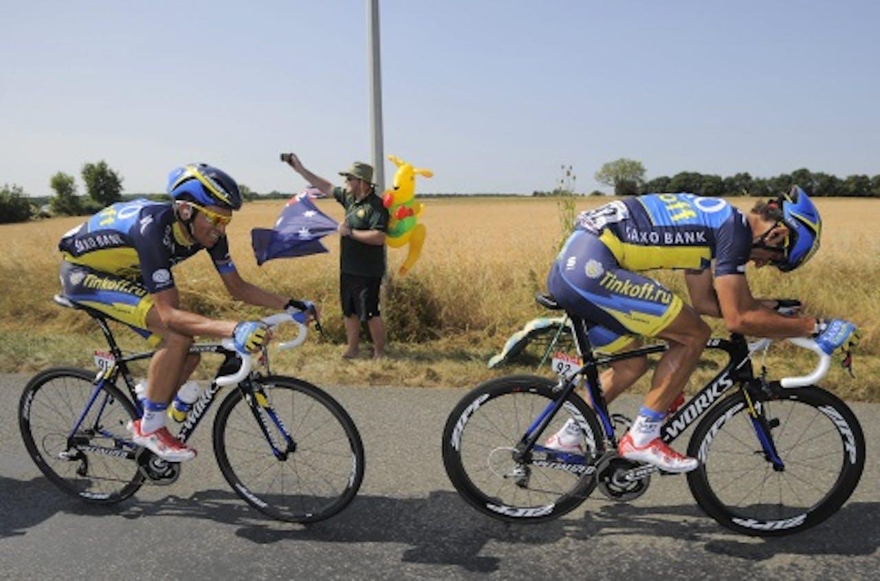 Contador (L) en Benatti. EPA