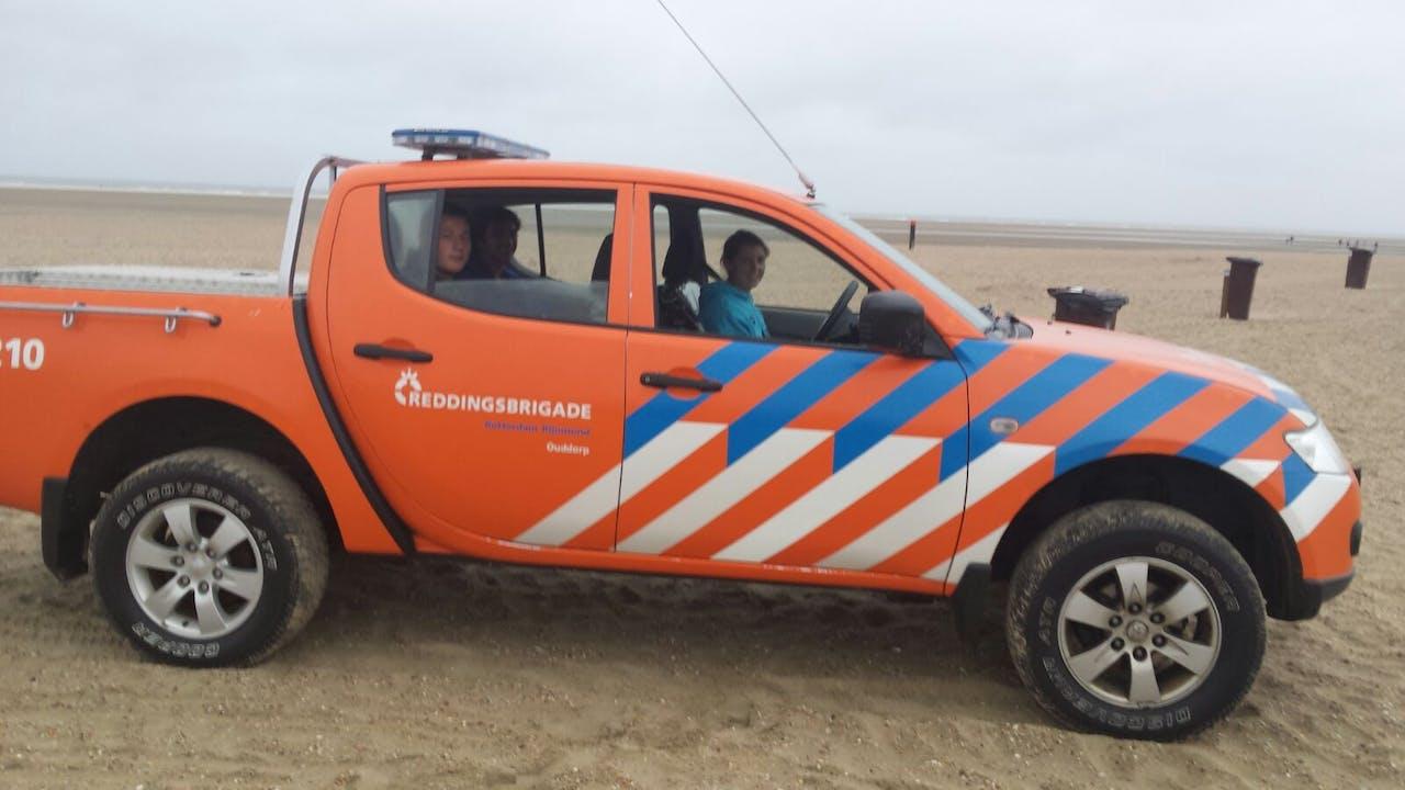 Foto: Renee van Heteren - Reddingsbrigade op het strand van Ouddorp
