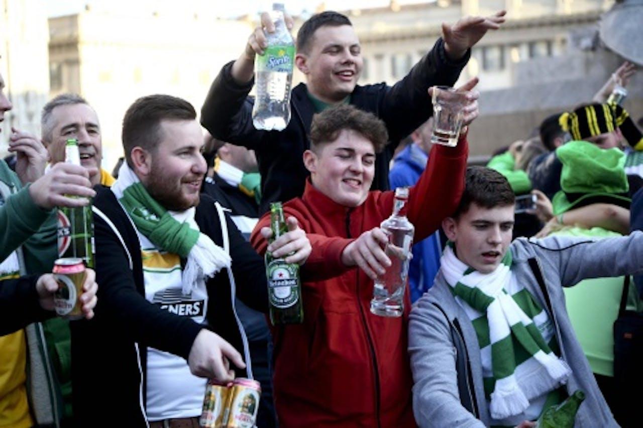 Archiefbeeld van Celtic-fans. EPA