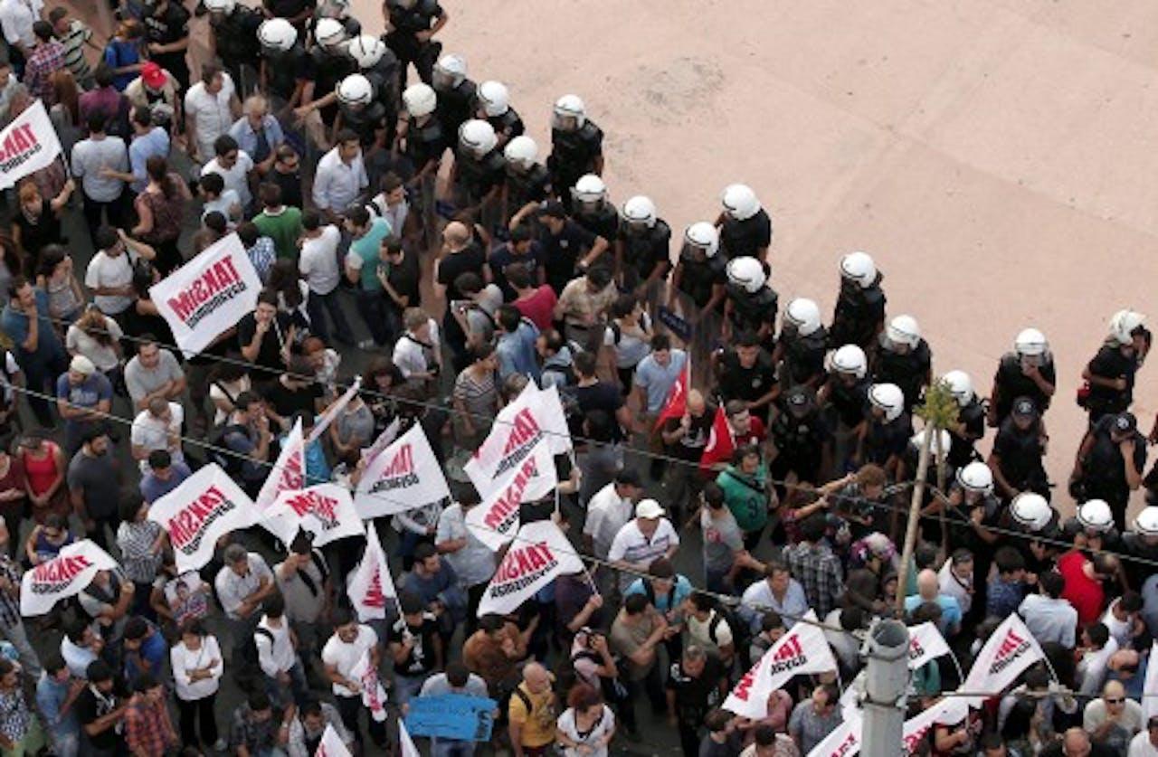 Eerdere demonstratie Istanbul. EPA