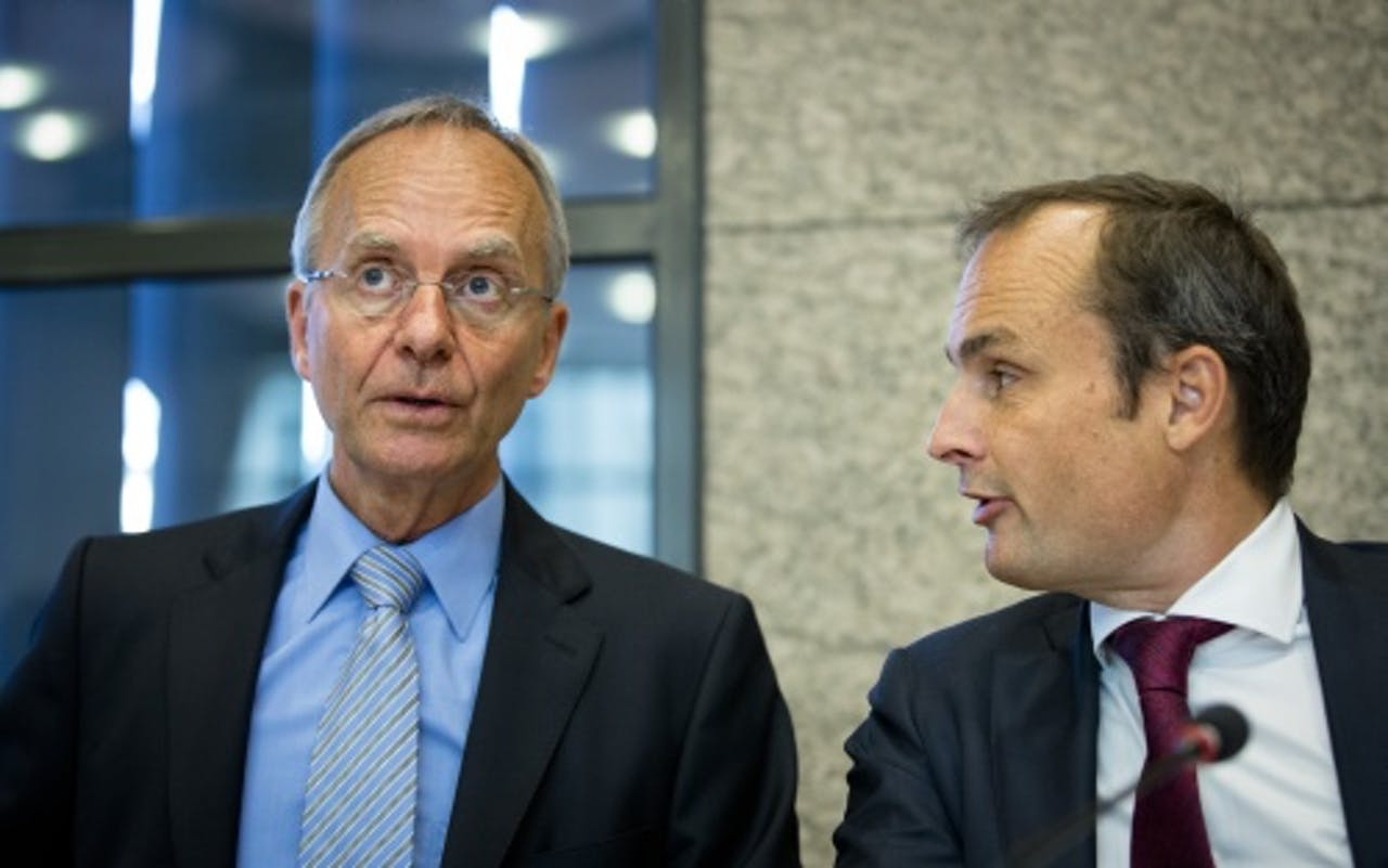 Henk Kamp (L) en Jan Vos. ANP