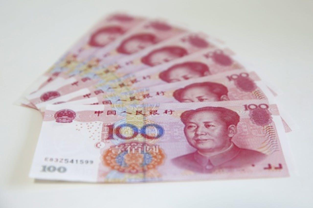 Chinese bankbiljetten. EPA