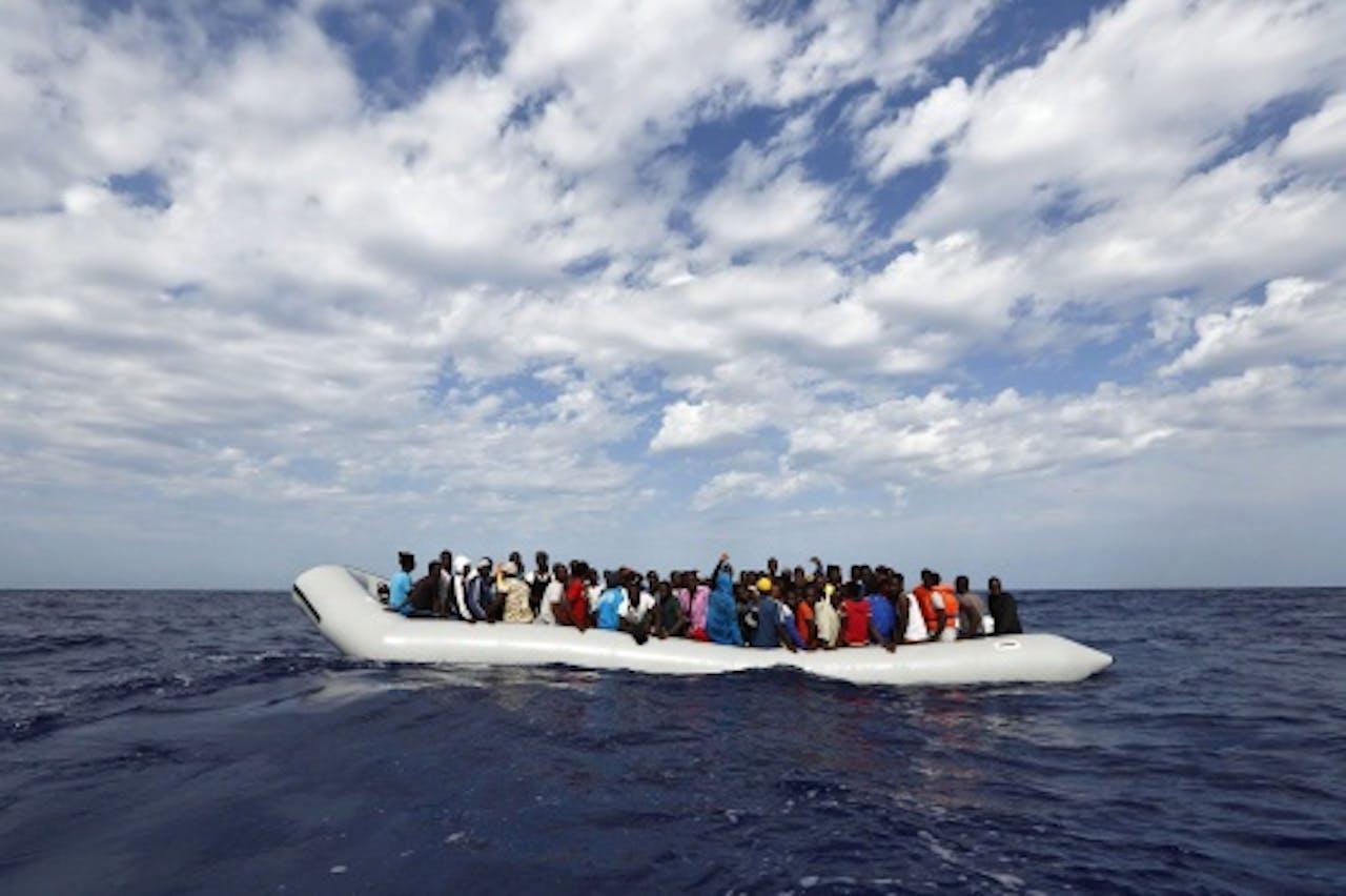Archiefbeeld van bootvluchtelingen. EPA