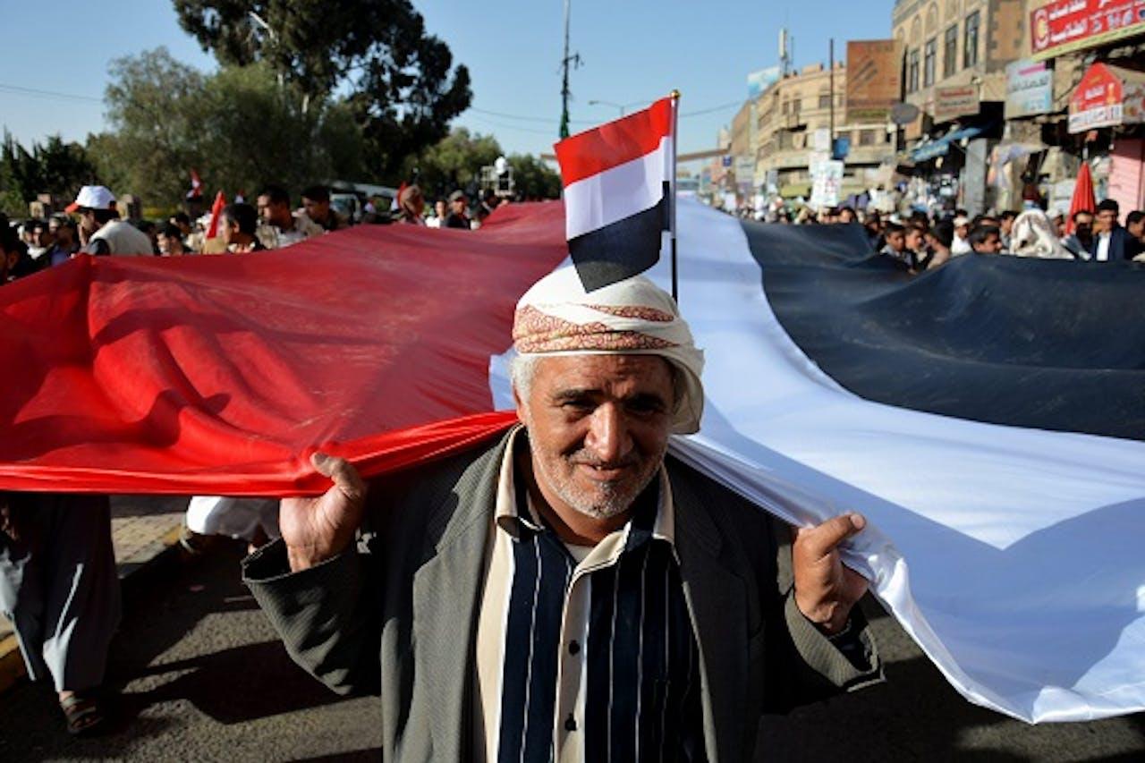 Het protest in Jemen. Foto: ANP