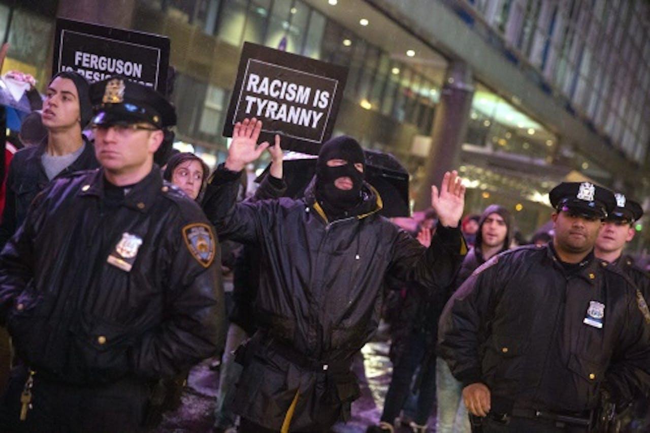 Demonstratie tegen politiegeweld na de dood van Eric Garner. EPA