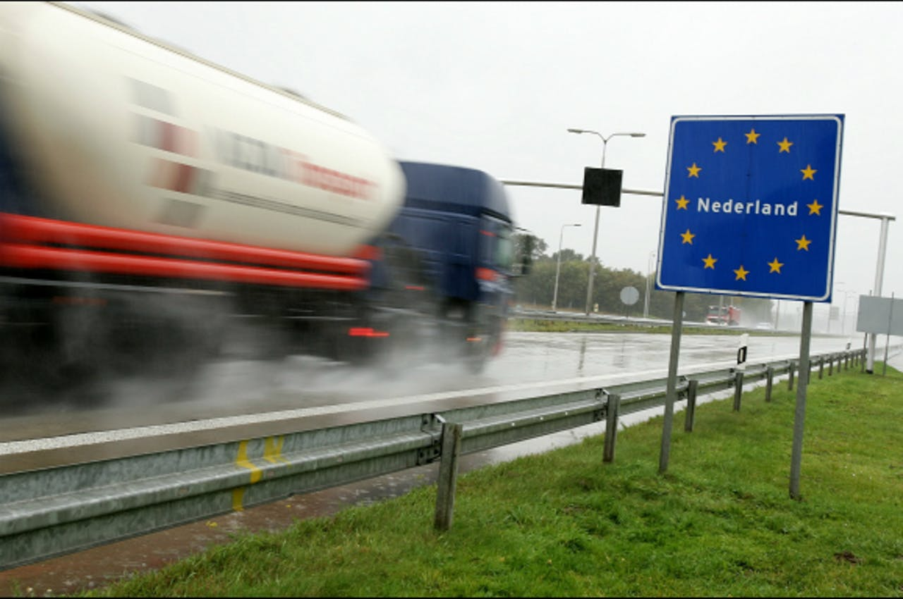Foto: ANP - Grensovergang ligt tussen Boxmeer en het duitse Goch op de A77