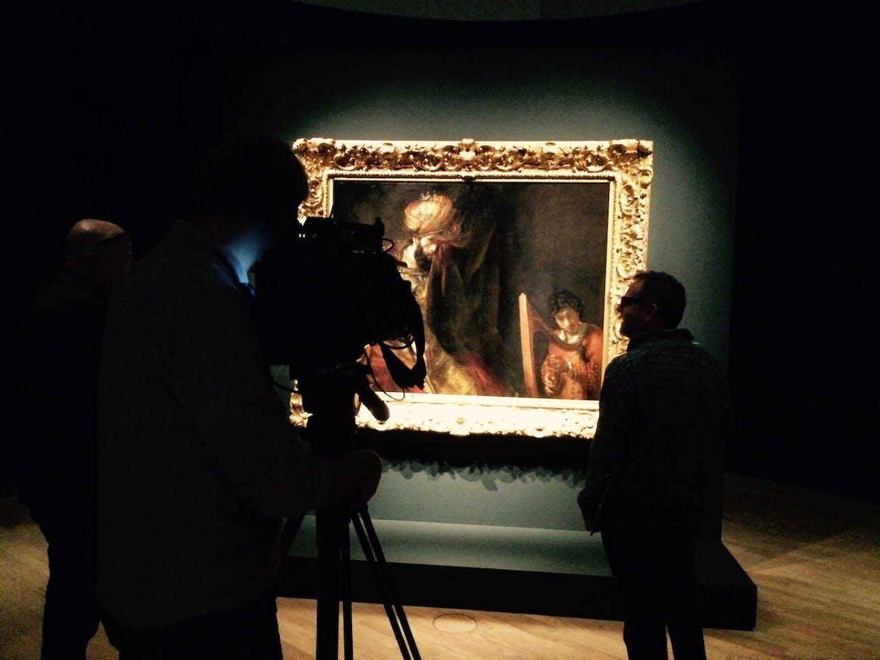 Saul en David in het Mauritshuis in Den Haag - foto: Martijn de Rijk