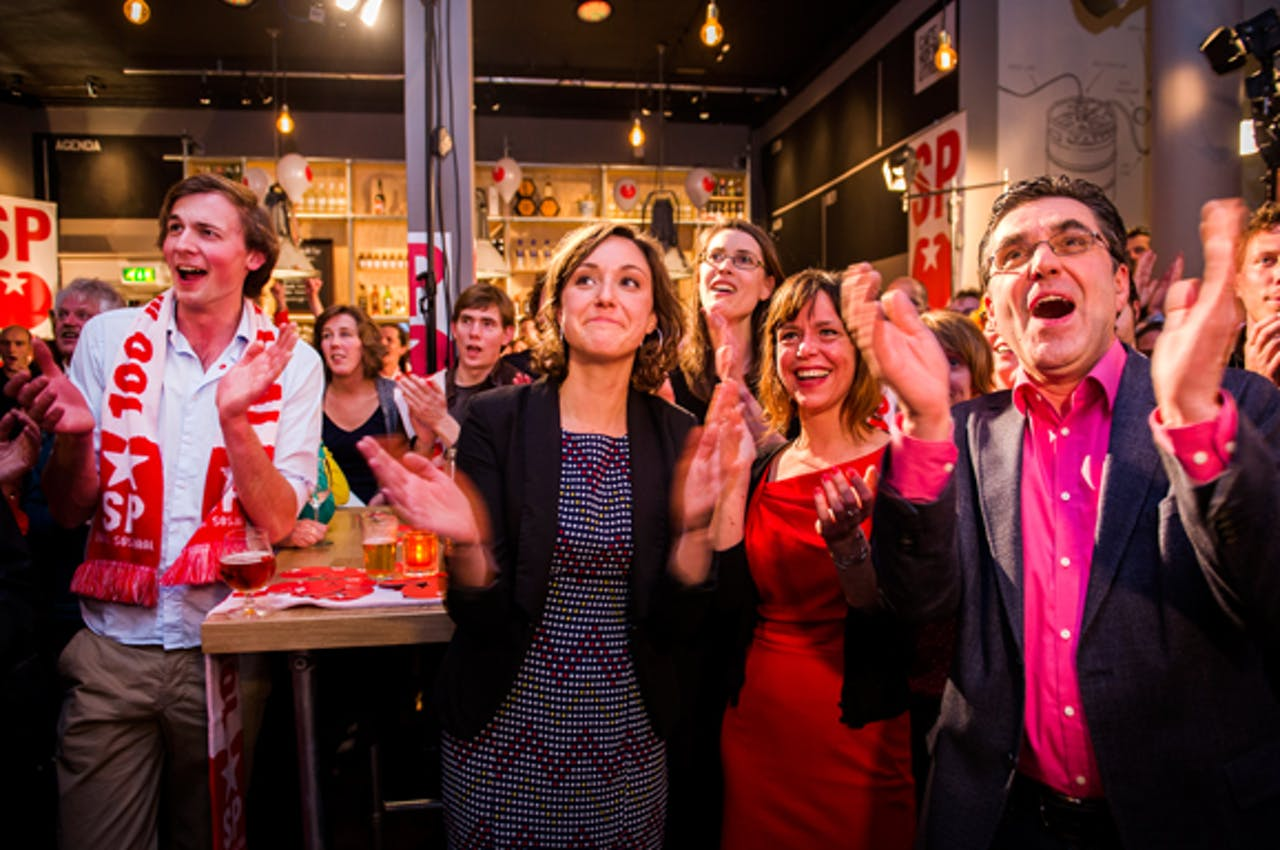 Ook bij de SP is het feest: in veel gemeenten groeide de partij.