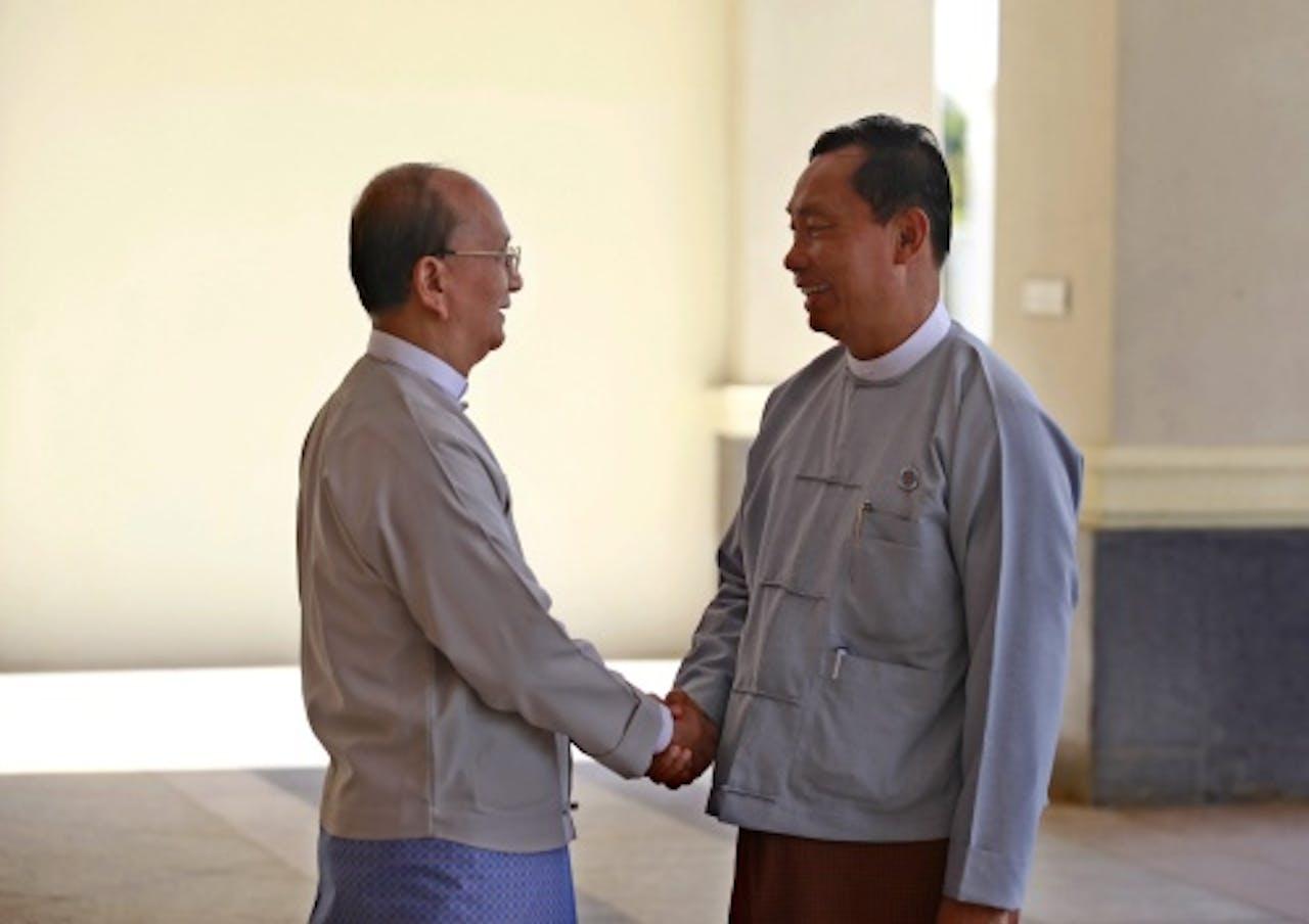 Shwe Mann(R). EPA