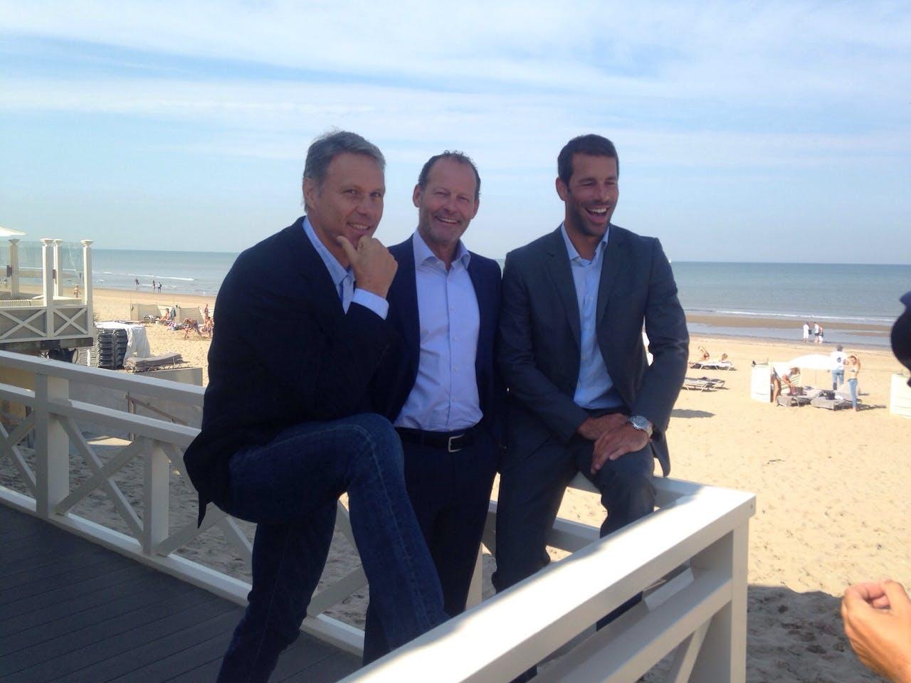 Van l.n.r. Marco van Basten, Danny Blind en Ruud van Nistelrooij.