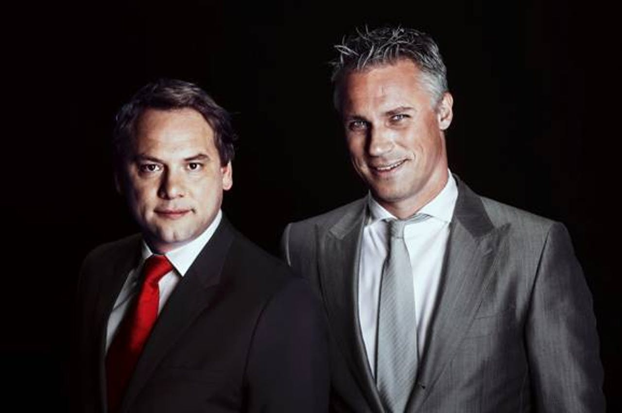 Meindert Schut (l) en Wouter Karssen (r) live vanaf de AutoRAI