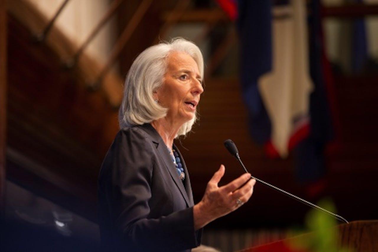 Christine Lagarde van IMF. EPA