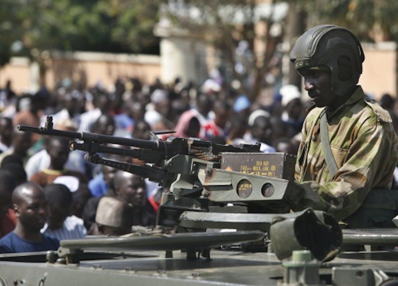 Archiefbeeld van een Nigeriaanse soldaat. EPA