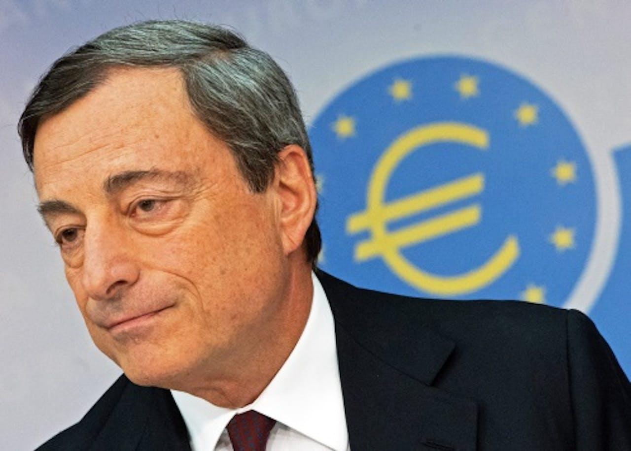 Draghi van de ECB. EPA