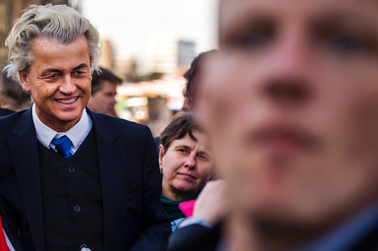 Geert Wilders met Marjolein Faber (achter) op ANP archiefbeeld
