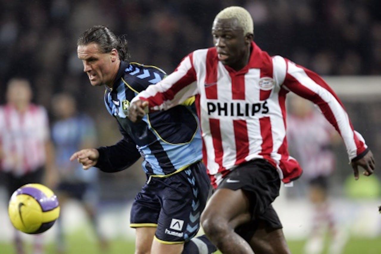 Archiefbeeld van Stijn Vreven (L) in het shirt van ADO Den Haag. ANP