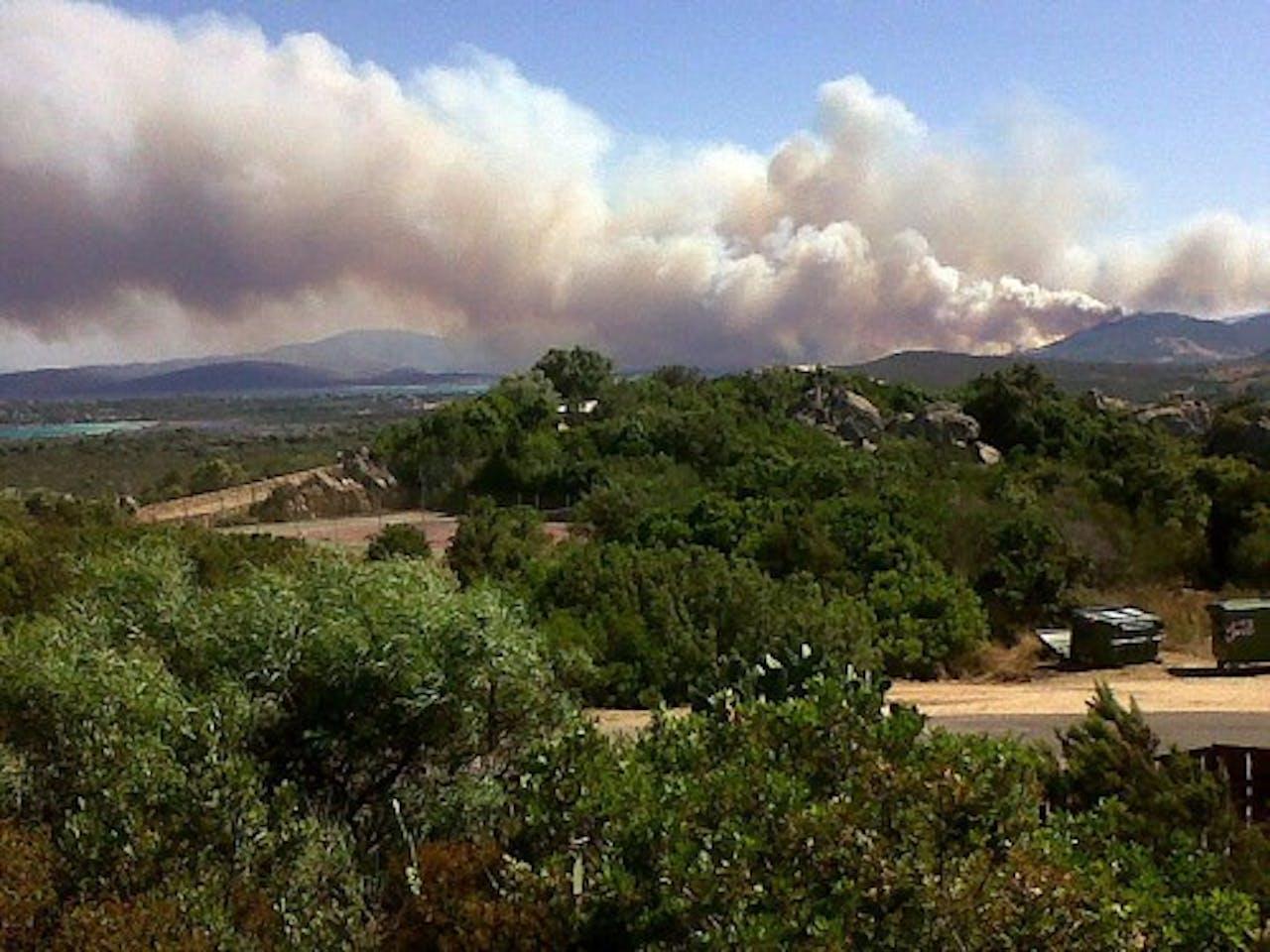 Archiefbeeld eerdere bosbrand op Sardinië. EPA