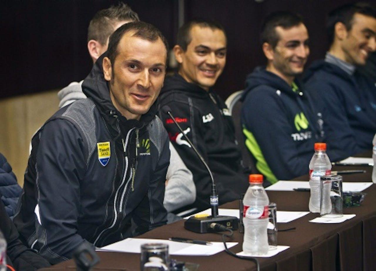 Ivan Basso (L). EPA