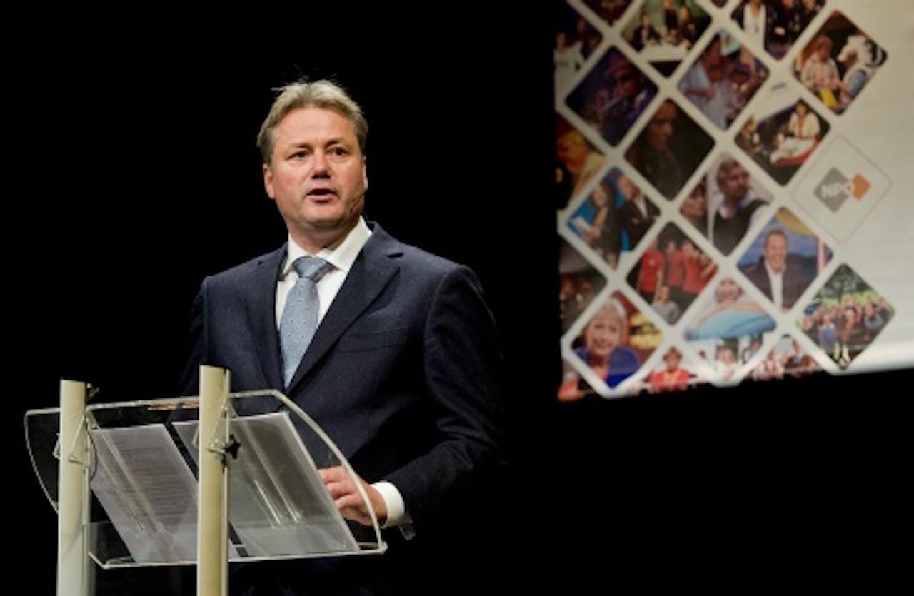 Foto: ANP - NPO-voorzitter Henk Hagoort.