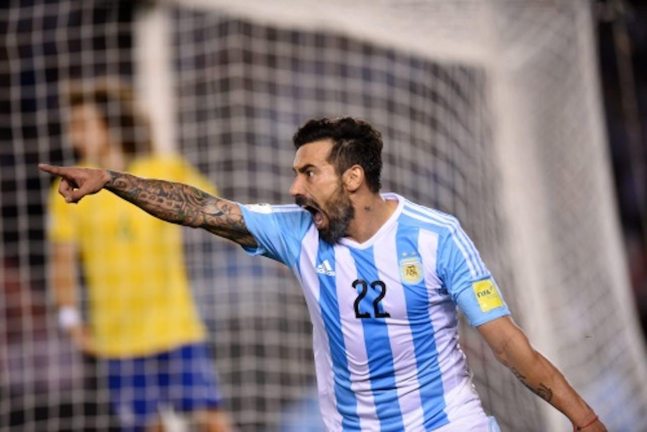 Argentinië-speler Ezequiel Lavezzi. EPA