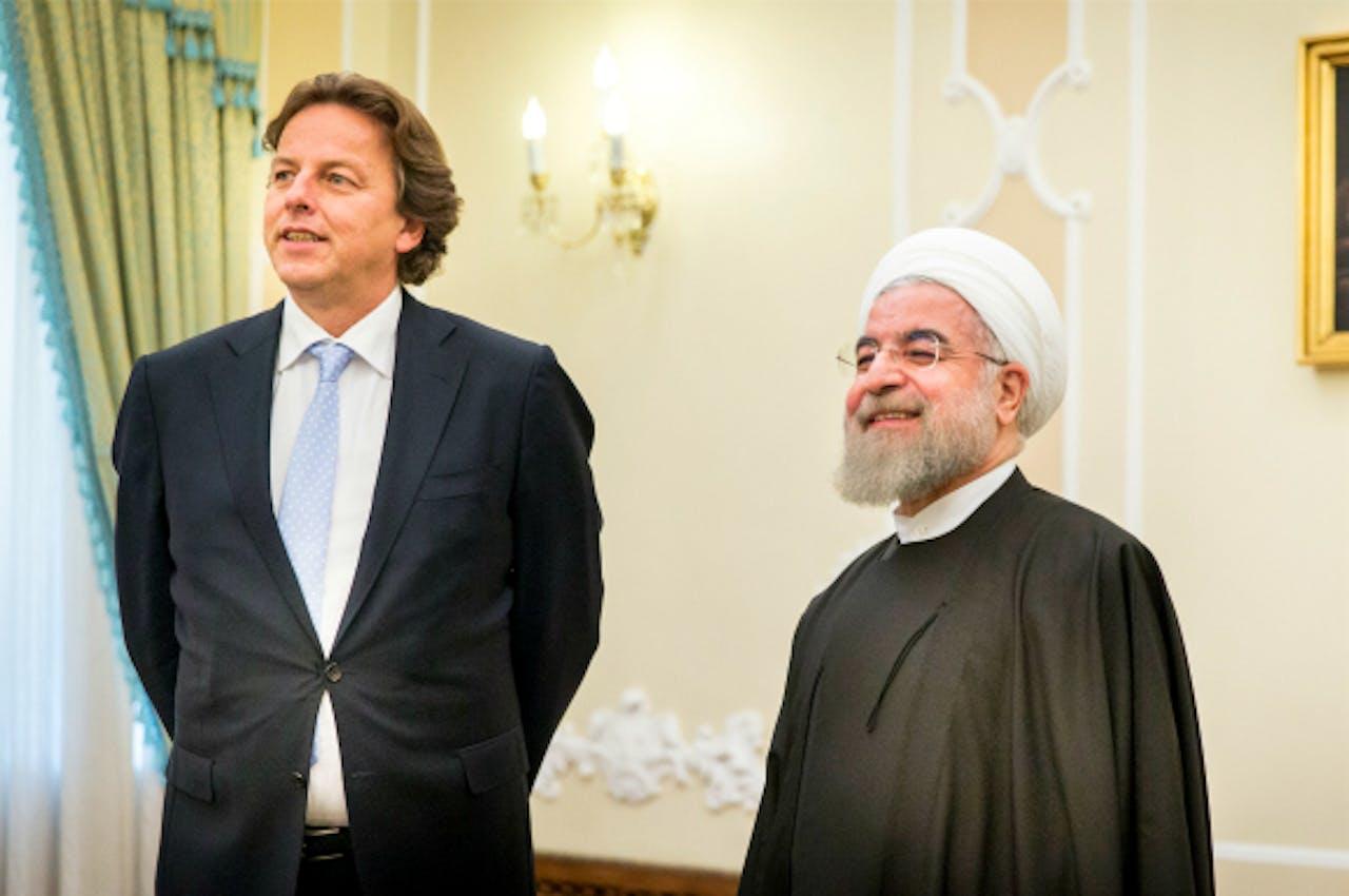 Bert Koenders en Hassan Rohani, president van Iran. Foto: ANP