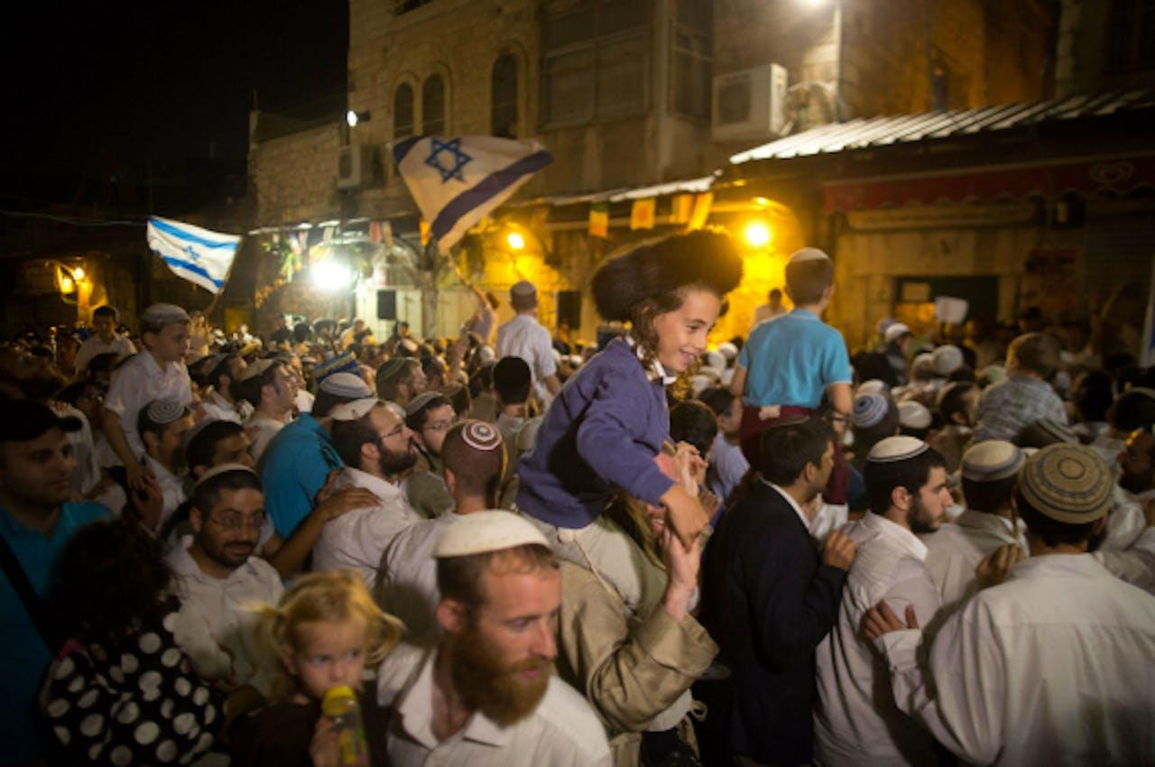 Het Protest van rechtse Israëli's. Foto: ANP