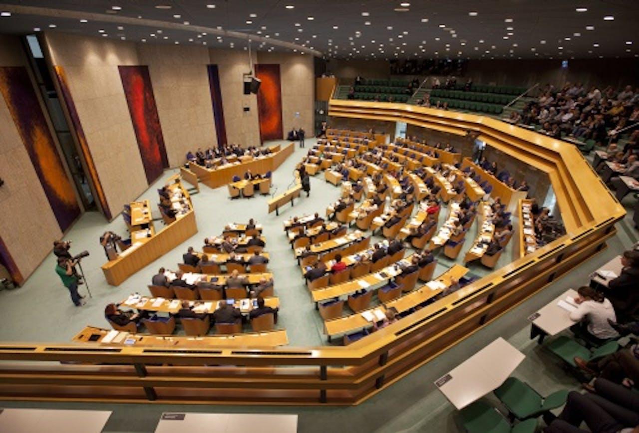 De Plenaire zaal van de Tweede Kamer. ANP