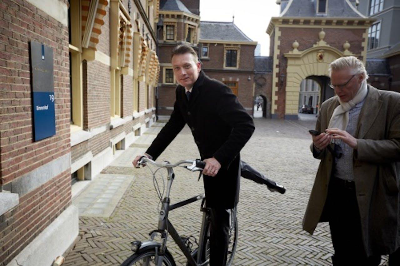 VVD-fractievoorzitter Halbe Zijlstra komt aan. ANP