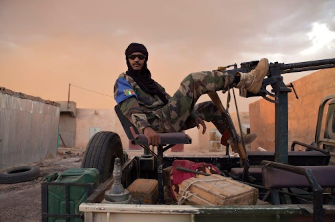 Archiefbeeld van een Toeareg-soldaat. EPA