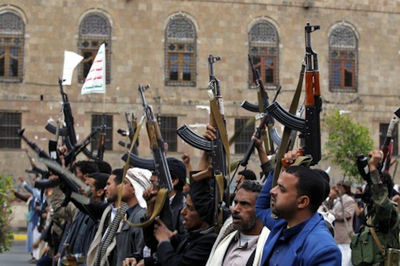 Houthi-rebellen. EPA