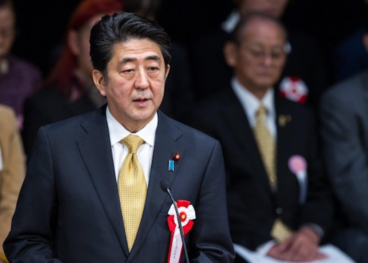 De Japanse premier Shinzo Abe. EPA